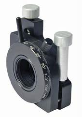 Kinematic Double Optical Mount of Side Drive with Adjustable Polarizer Holder